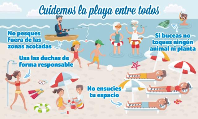 Agosto: Cuidemos la playa entre todos