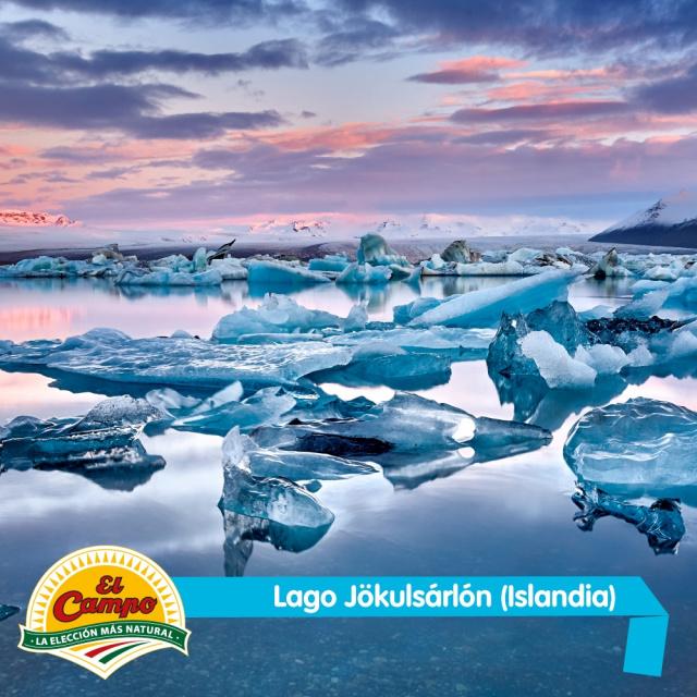 Enero: Lago Jökulsárlón (Islandia)